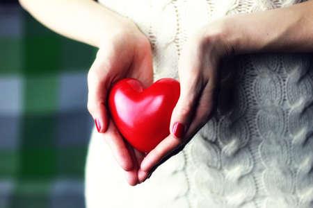 hand valentine heart woolen Stock Photo