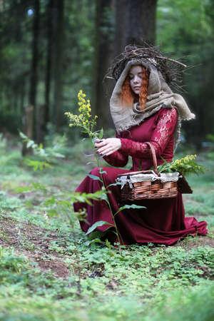 Fortune-teller conducts a ritual