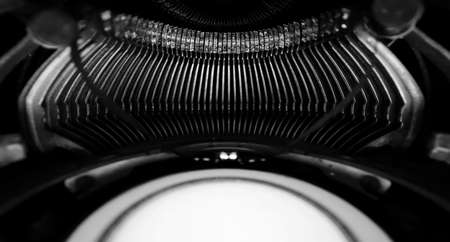 Abstract background with metal part and elements of retro typewriter Stock Photo