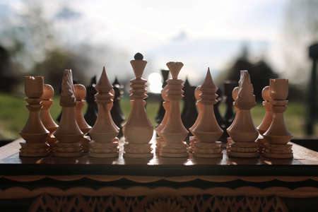 chess on board one 스톡 콘텐츠