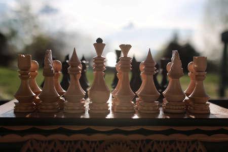 chess on board one Reklamní fotografie - 95793916
