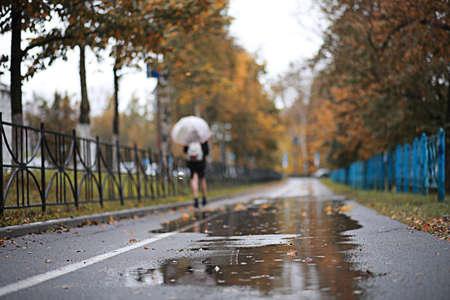 Autumn rain in the park Banque d'images - 129471881