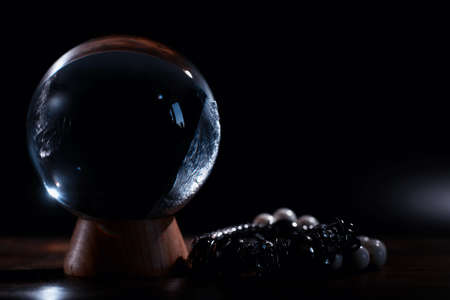 Crystal ball predict the fate. Guessing for the future.