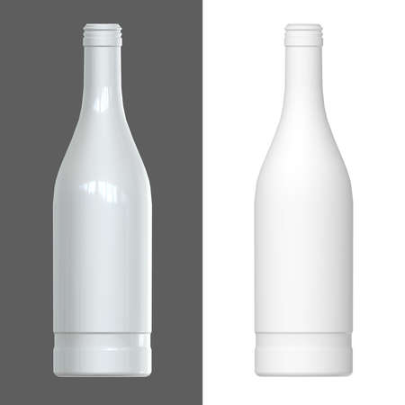 render: Vodka bottle template. 3D render.