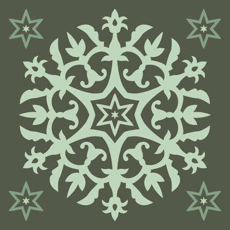 Vector Ornament With Caucasian Motifs