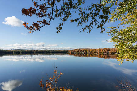 autumn sky over the lake
