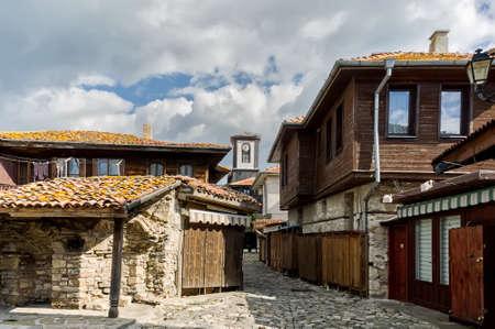 Street in old town Nesebar Bulgaria Фото со стока