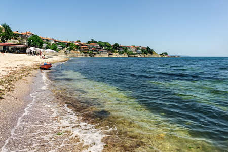 Black sea on old town . Summer Bulgaria