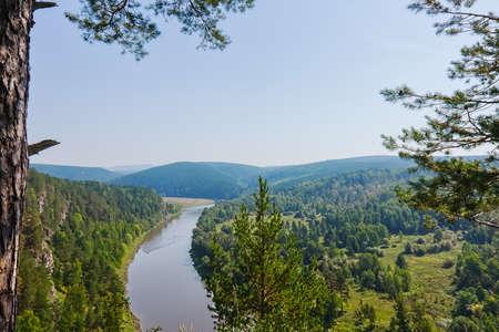 landscape with river, Bashkiria, Yuryuzan