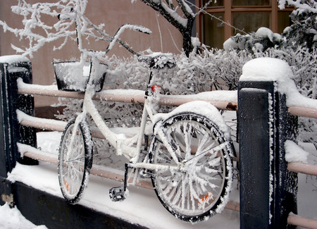 winter finland: Winter Bike in Finland