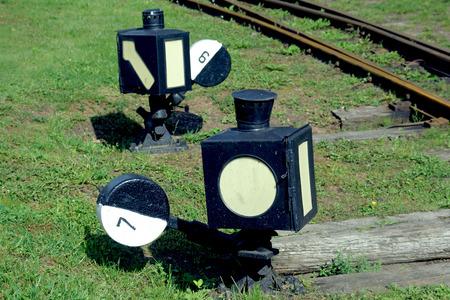 Railroad Switch At Suwalki Narrow-gauge Railway, Poland