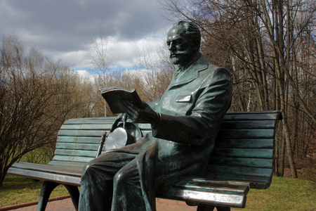 The Sculpture Of Great Russian Composer Pyotr Tchaikovsky In Klin, Russia Editorial