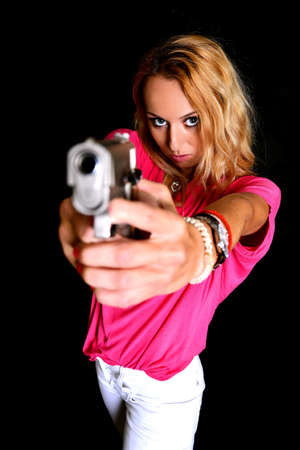 woman with gun photo