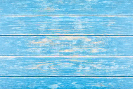 View of blue structured wooden background