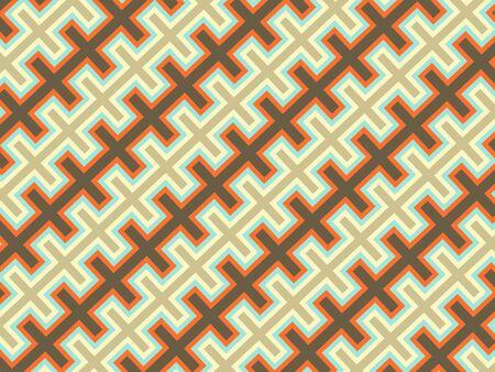 Simple ornamental pattern, textile print. Pattern for fabric and trellis. Geometric pattern. Seamless surface. Minimalist wallpaper. Banco de Imagens