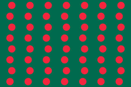 Simple geometric pattern in the colors of the national flag of Bangladesh