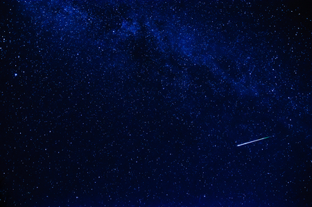 A shooting star in the sky