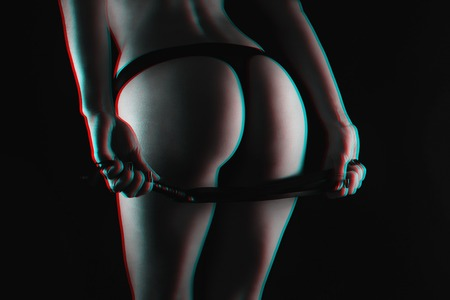 sexy big ass dominatrix girls with leather whip Flogger for BDSM