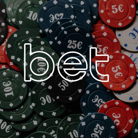 concept of betting. Game chips for gambling poker