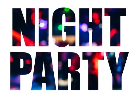 Design text Night Party on white background