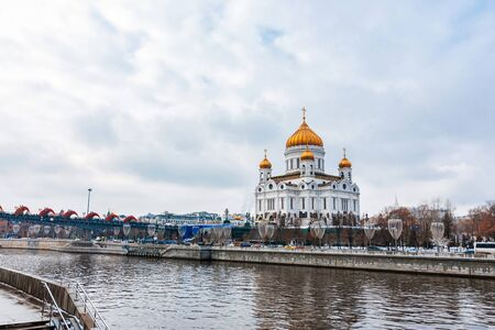 Cathedral of Christ the Saviour in Moscow, Russia, winter day