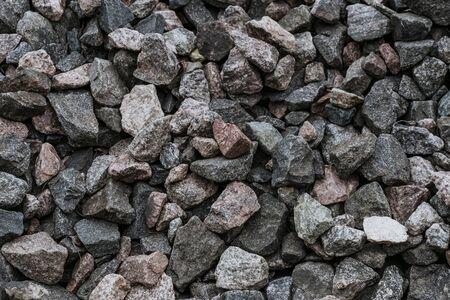 natural crushed stone texture closeup Stock Photo