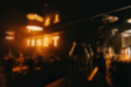 interior of the restaurant bar is out of focus with a blur