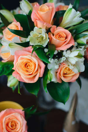 wedding bouquet of fresh blooming flowers Stock fotó