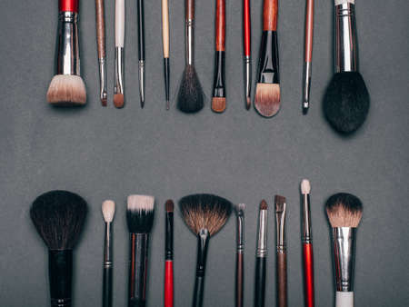professional set of brushes for eye makeup