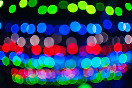 blurred abstract background with multicolored bokeh