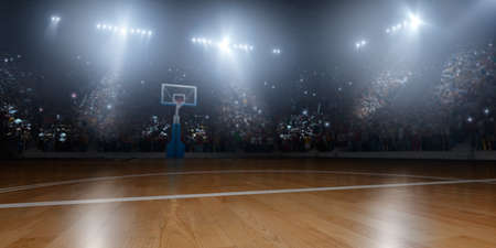 Basketball arena in 3D Stock Photo