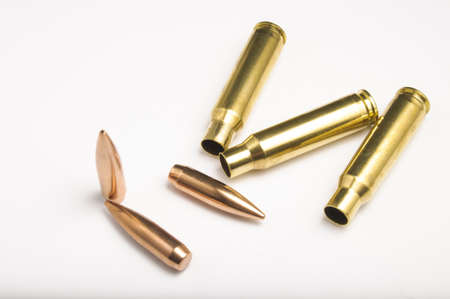 Rifle bullets separated Stock Photo - 19935803