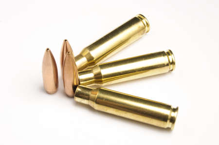 warheads: Rifle bullets separated Stock Photo