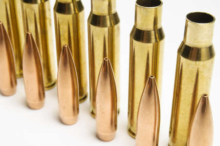 warheads: Rifle bullets separated a in row