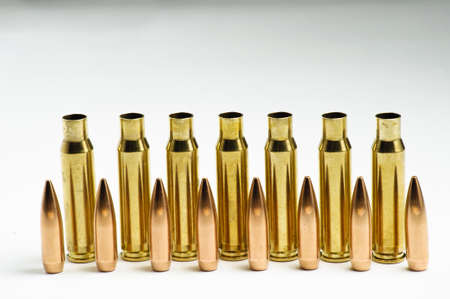 Rifle bullets separated Stock Photo - 19935867