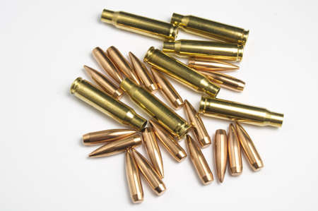 Rifle bullets separated Stock Photo - 19935863