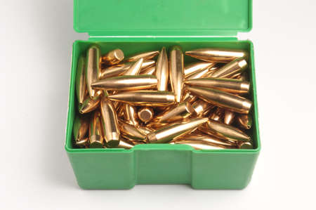 Rifle bullet tips Stock Photo - 19935829