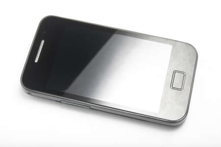 Touchscreen smartphone turned off Stock Photo