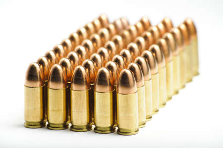 9mm bullets in a row photo