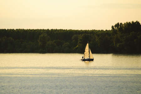 Sailboat on a river