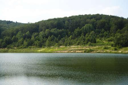 Lake in the mountain Stock Photo
