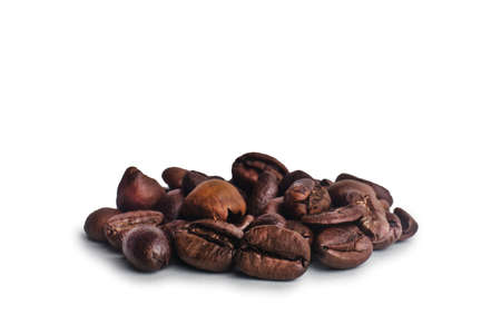 coffee beans on a white background.