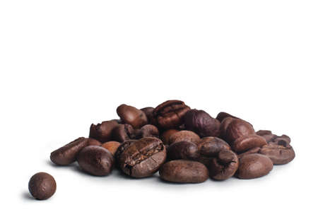 coffee beans on a white background. Standard-Bild