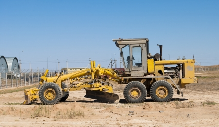 the grader on building Stock Photo - 19738042