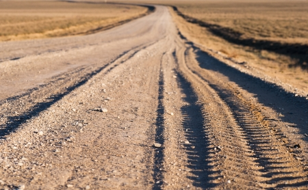 sharpness: gravel road background (small depth of sharpness)