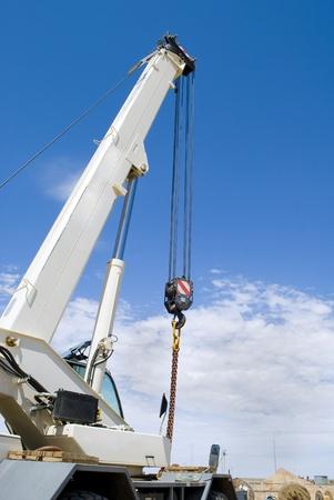 telescopic: telescopic crane on industrial site