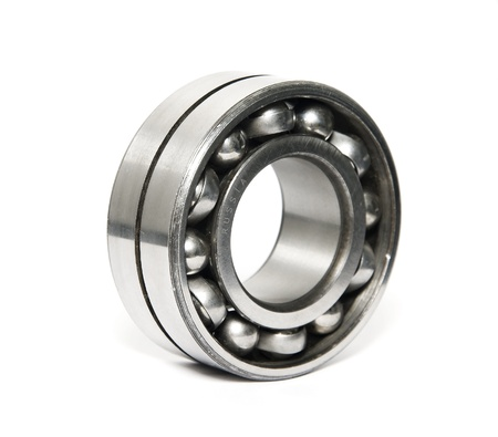 steel balls: russian quality ball bearing isolated on white