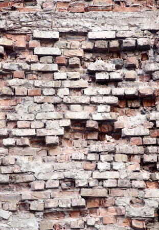 ruinous: old ruinous brick wall texture