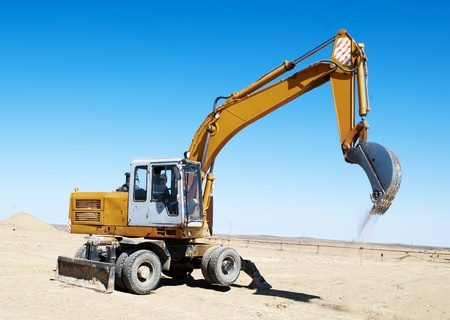 excavator on industrial site Stock Photo - 19735971