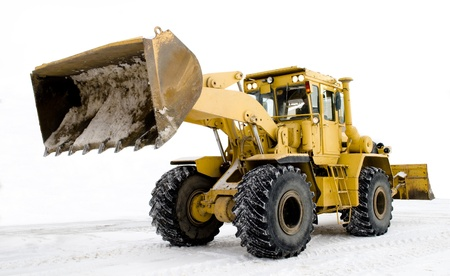 digger on snow photo